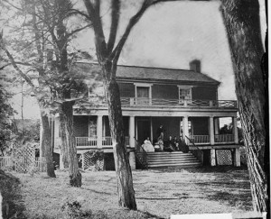 Wilmer McLean's residence in Appomattox, photographed in 1865 (Photo credit: Library of Congress website)