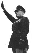 Benito Mussolini, leader of Italy's National Facist Party from 1922-1943 (Photo credit: Wikipedia)