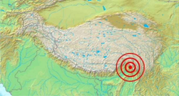 assam tibet earthquake
