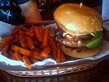 """The """"buffalo"""" burger - but is it really buffalo? (Photo Credit: Wikipedia)"""