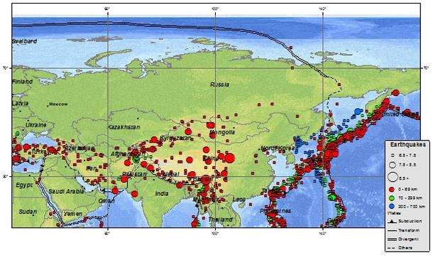 kamchatka peninsula earthquakes