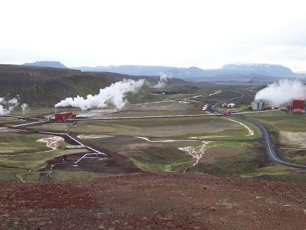 Krafla Geothermal Station in Iceland