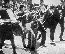 Gabro Princip just arrested by police