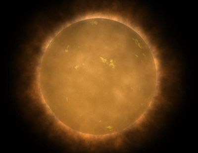 An artist's conception of a red dwarf (Photo credit: Wikipedia)