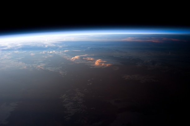 Sunset as seen from the International Space Station