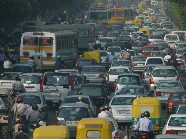 Rush hour in New Delhi